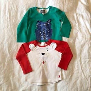 2 Joules Long sleeve tops (18-24m)